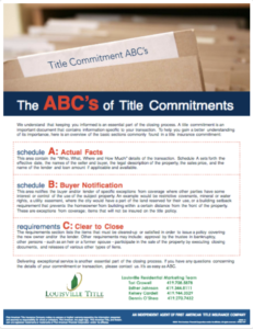 The ABCs of Title Commitments